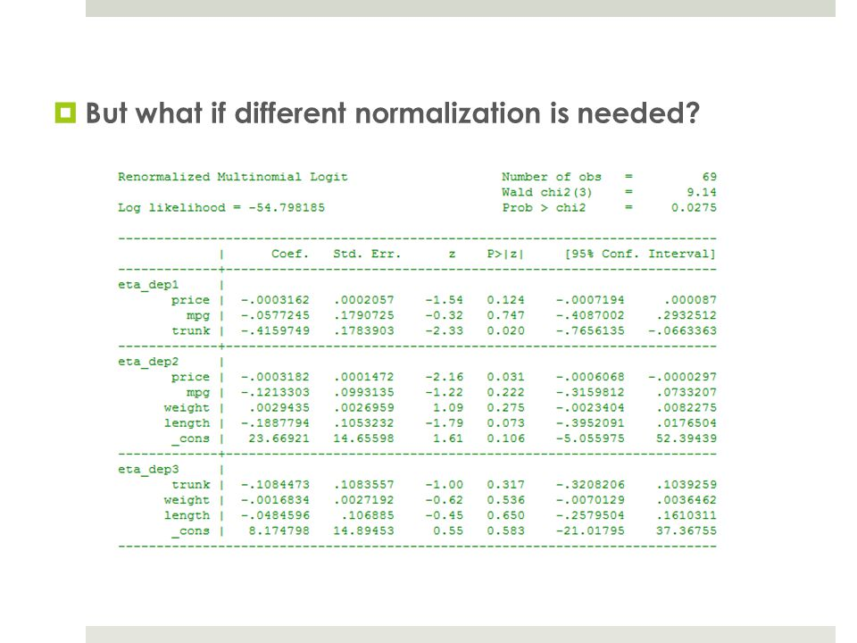 But what if different normalization is needed