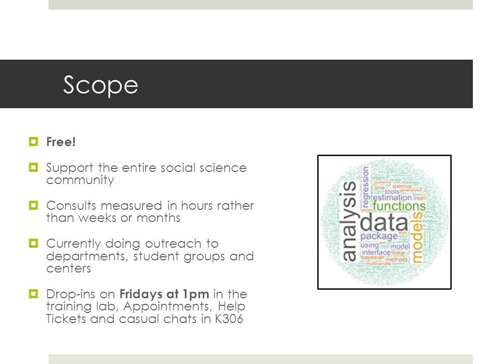 Scope Free! Support the entire social science community