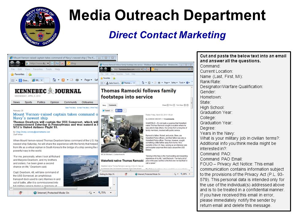 Media Outreach Department Existing Content Marketing