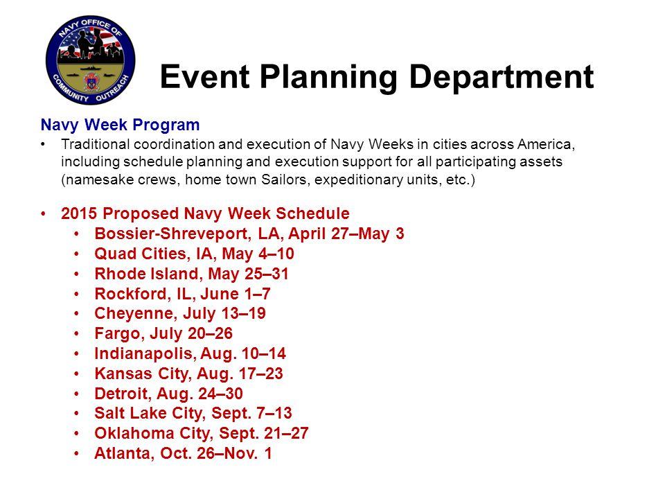 Event Planning Department