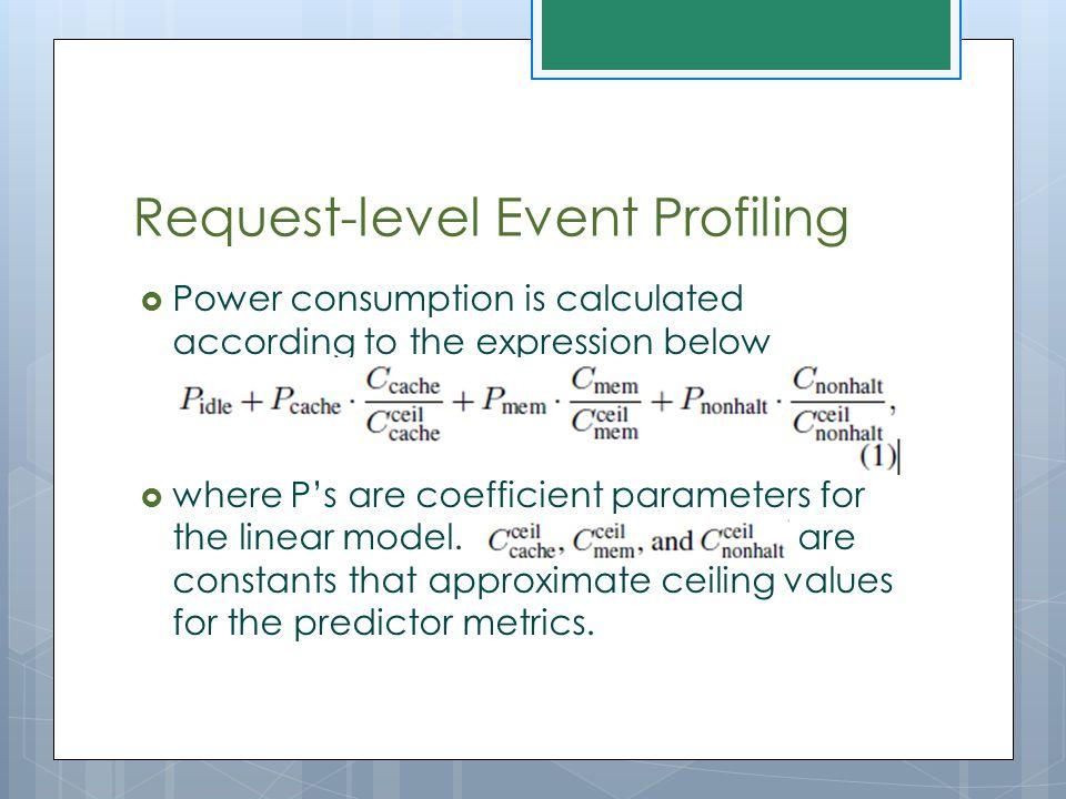 Request-level Event Profiling