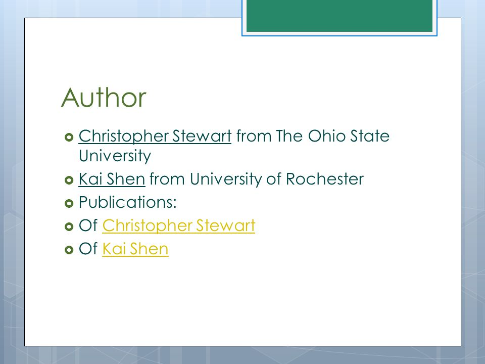 Author Christopher Stewart from The Ohio State University