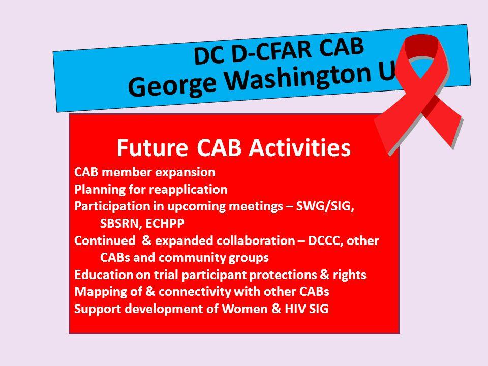 George Washington U Future CAB Activities DC D-CFAR CAB