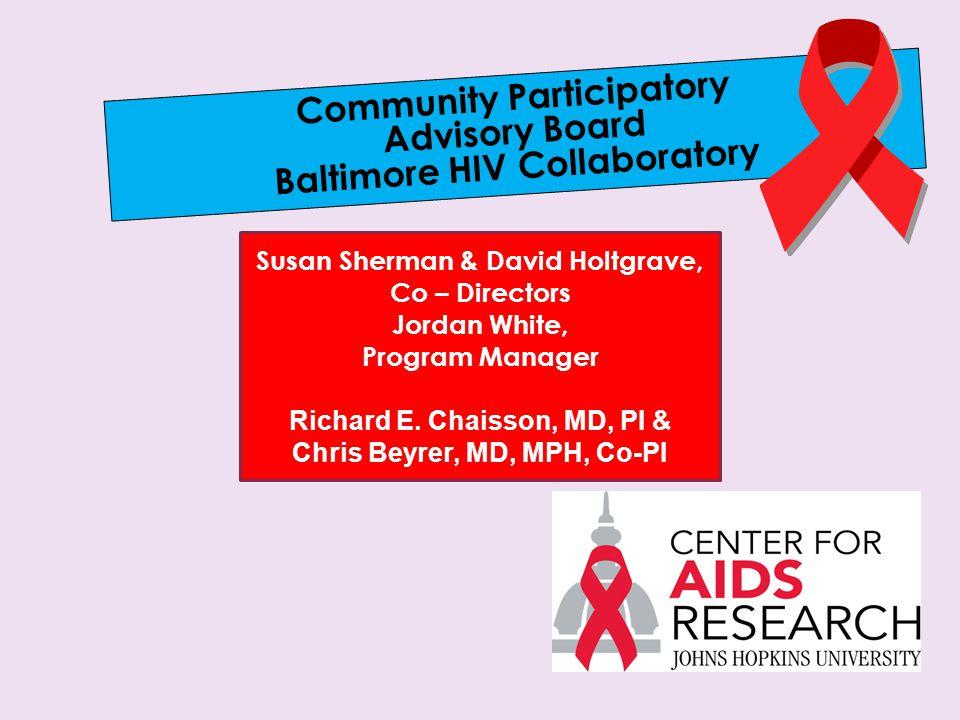 Community Participatory Advisory Board Baltimore HIV Collaboratory