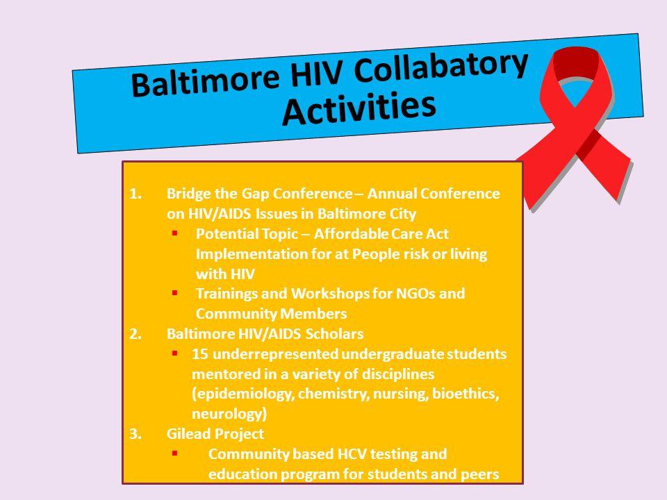 Activities Baltimore HIV Collabatory