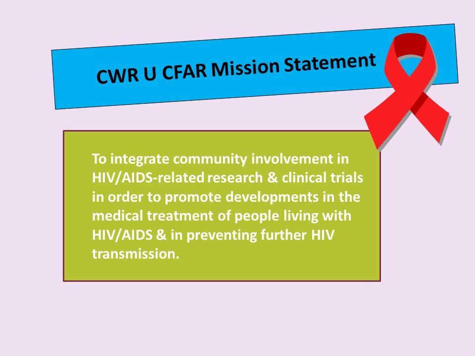 CWR U CFAR Mission Statement