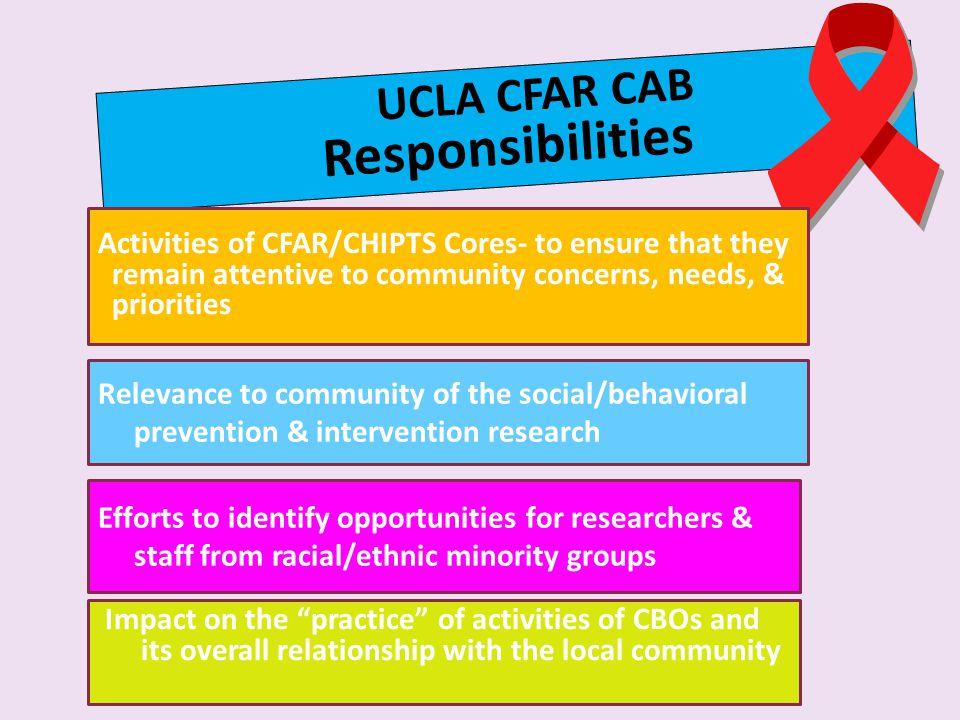 Responsibilities UCLA CFAR CAB