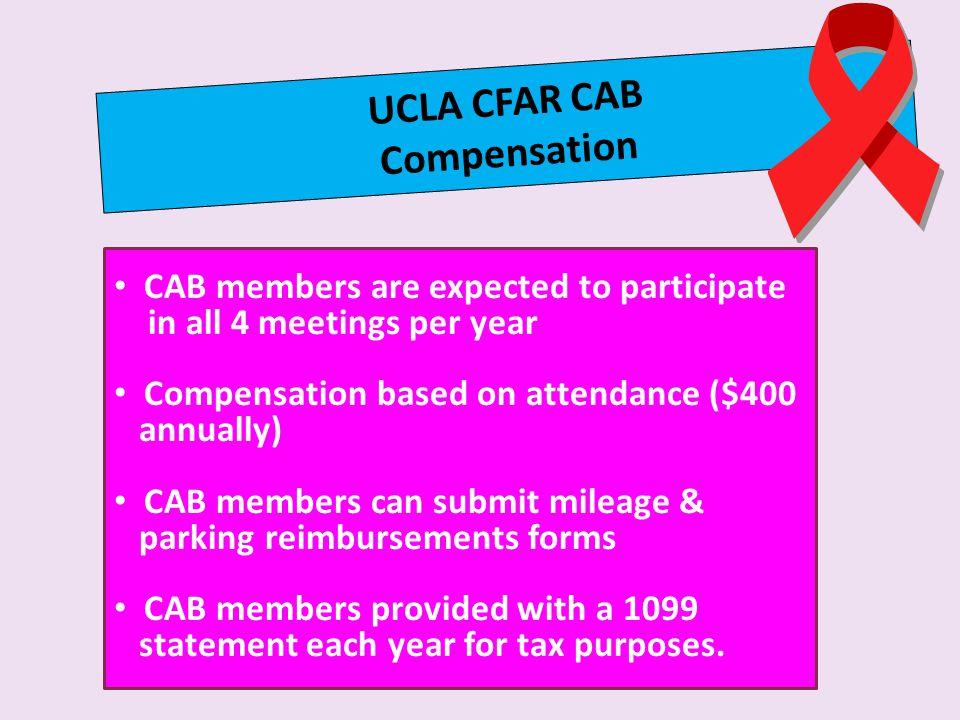 UCLA CFAR CAB Compensation