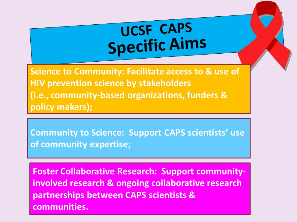 UCSF CAPS Specific Aims