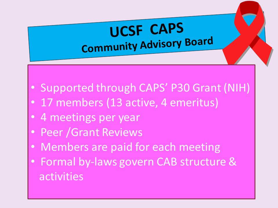 UCSF CAPS Community Advisory Board