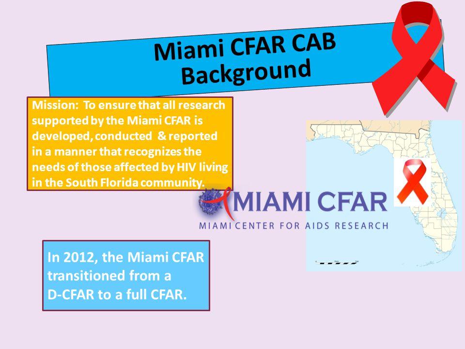 Miami CFAR CAB Background