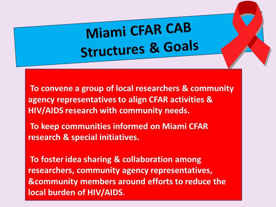 Miami CFAR CAB Structures & Goals