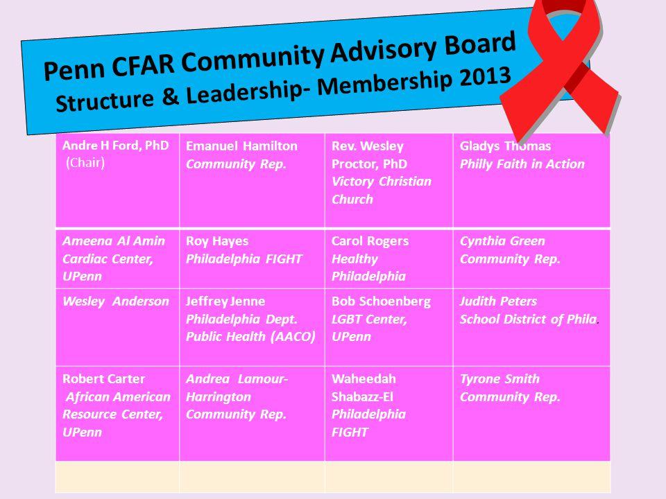 Penn CFAR Community Advisory Board