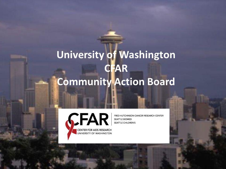 University of Washington CFAR Community Action Board
