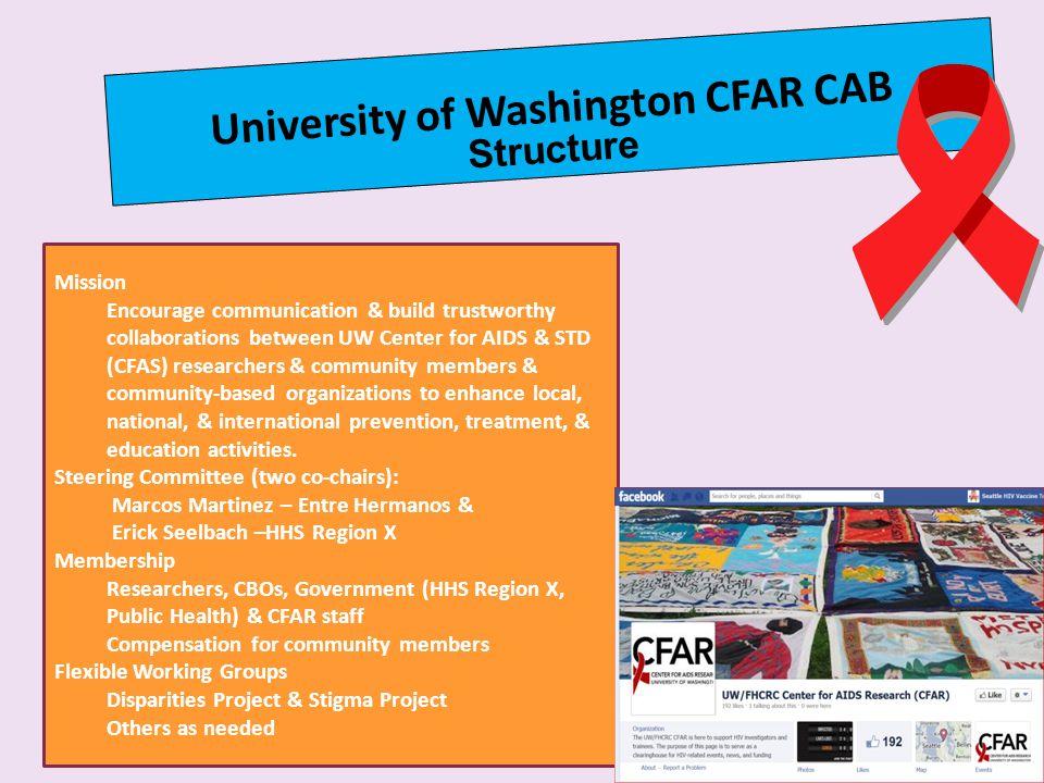 University of Washington CFAR CAB