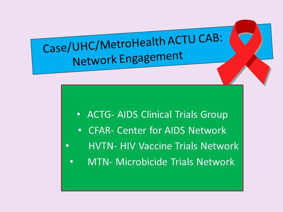 Case/UHC/MetroHealth ACTU CAB: Network Engagement