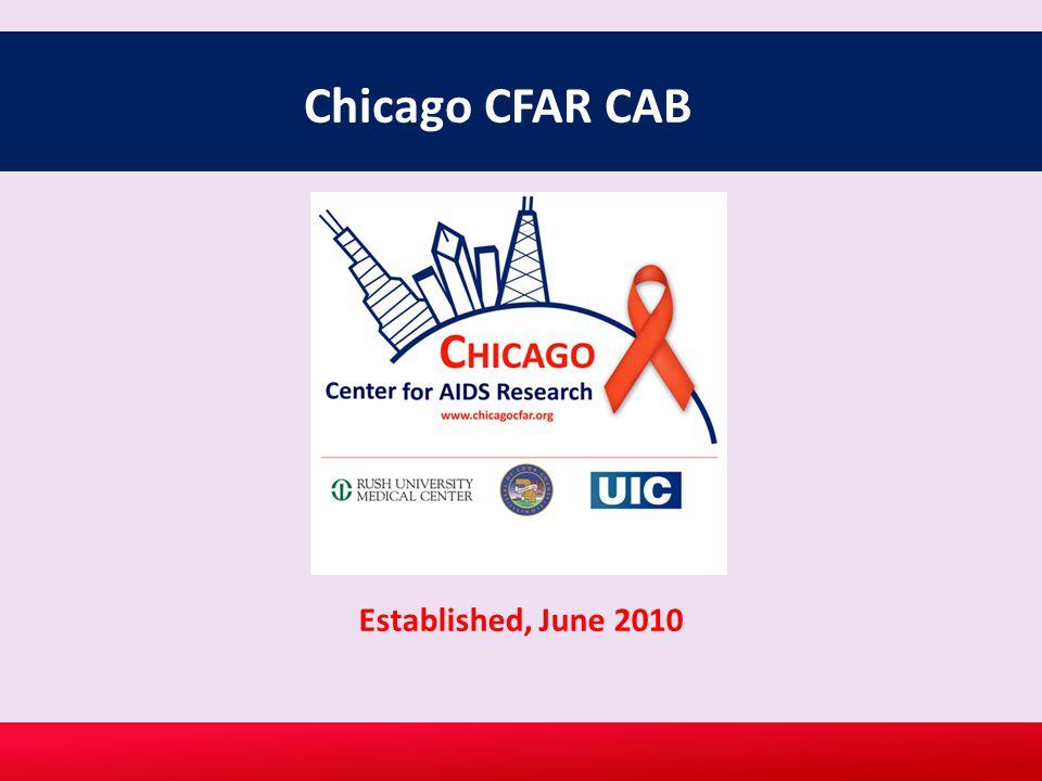 Chicago CFAR CAB Established, June 2010