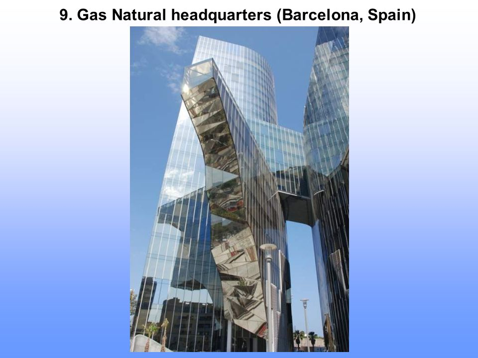 9. Gas Natural headquarters (Barcelona, Spain)