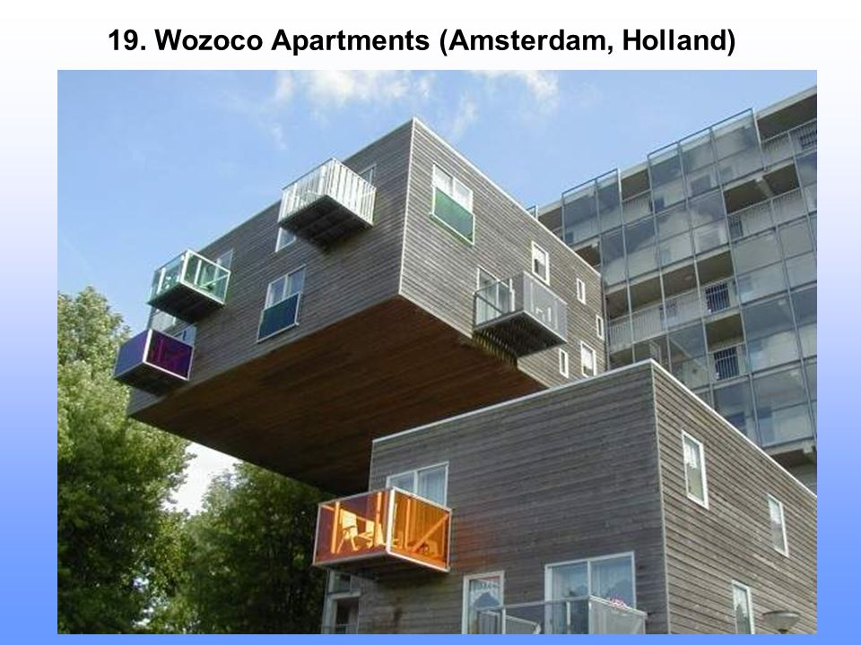 19. Wozoco Apartments (Amsterdam, Holland)