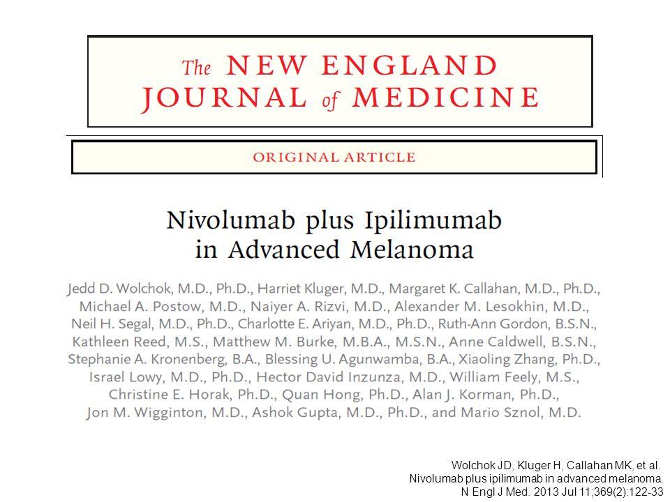 Wolchok JD, Kluger H, Callahan MK, et al.