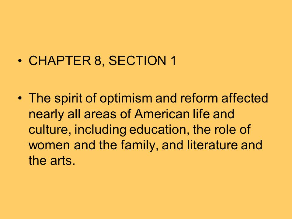 CHAPTER 8, SECTION 1
