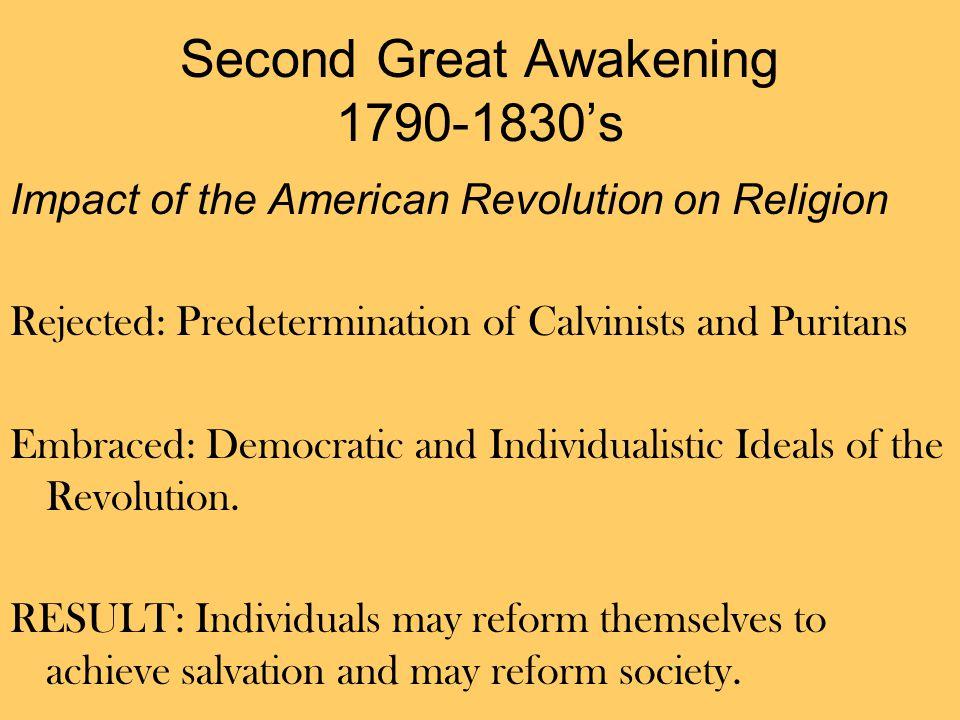 Second Great Awakening 1790-1830's