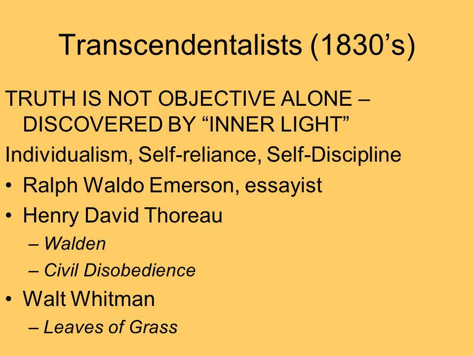 Transcendentalists (1830's)