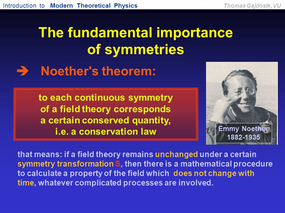 The fundamental importance of symmetries