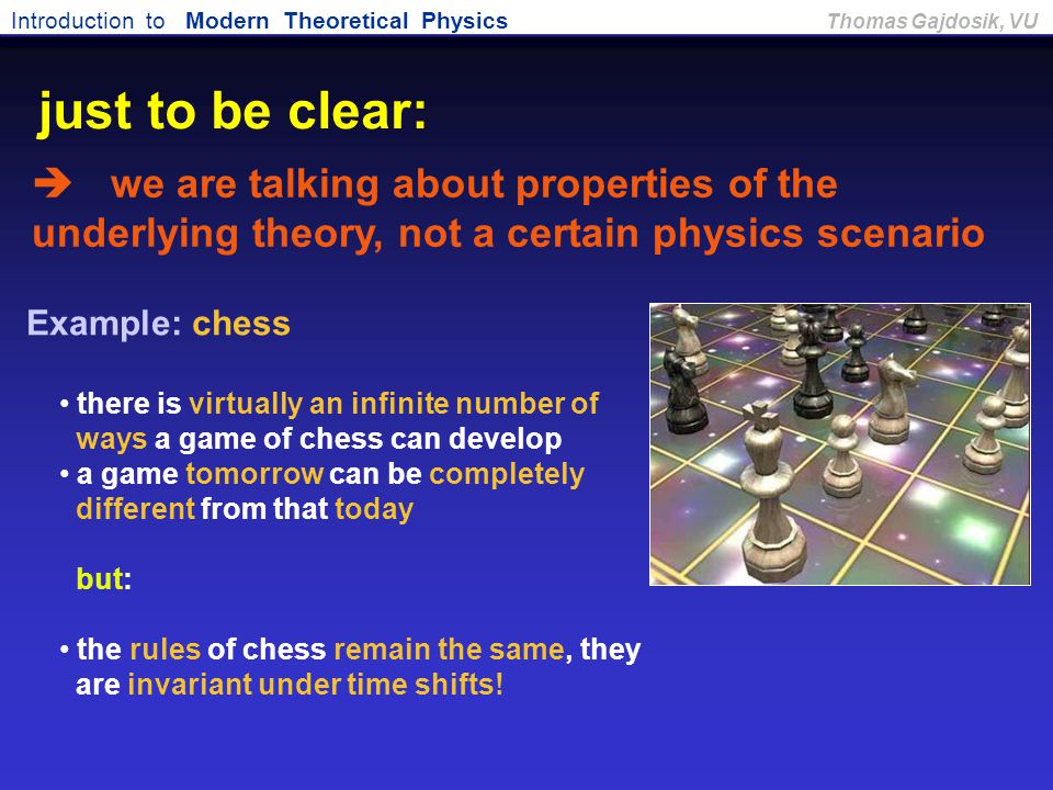 just to be clear:  we are talking about properties of the underlying theory, not a certain physics scenario.