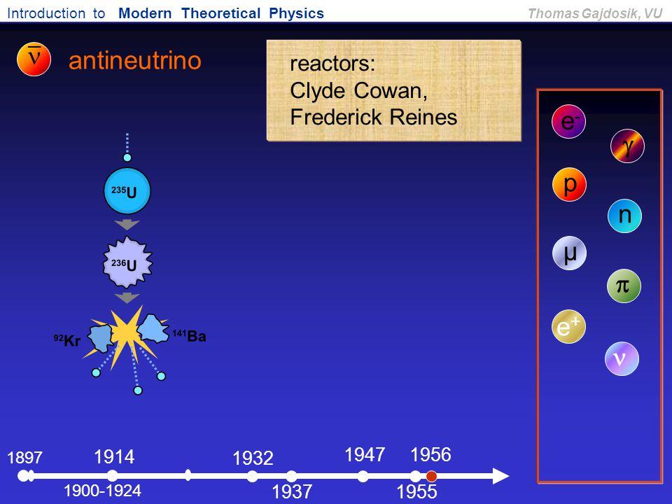 n antineutrino e- g p n µ p e+ n _ reactors: