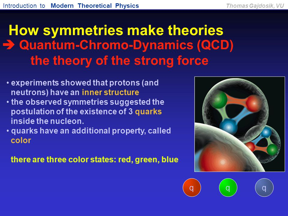 How symmetries make theories