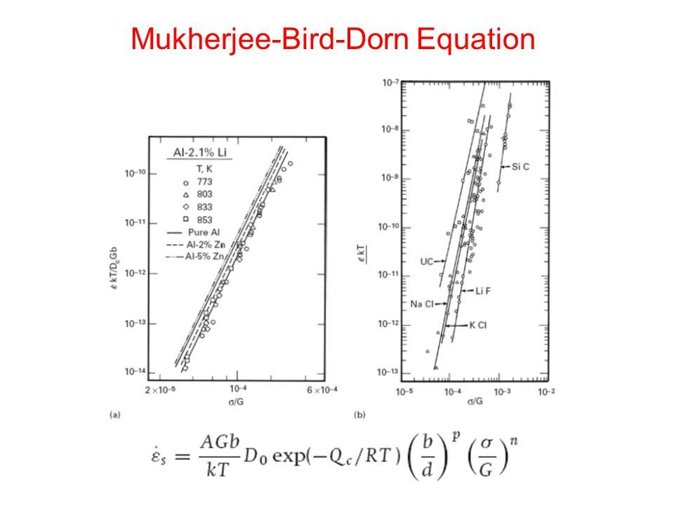 Mukherjee-Bird-Dorn Equation