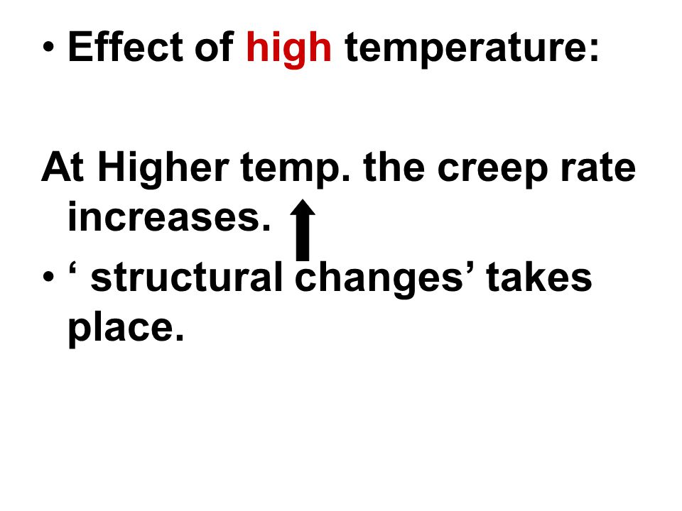 Effect of high temperature: