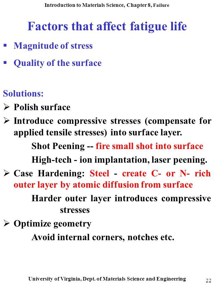Factors that affect fatigue life