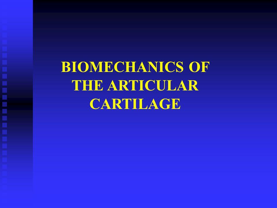 BIOMECHANICS OF THE ARTICULAR CARTILAGE