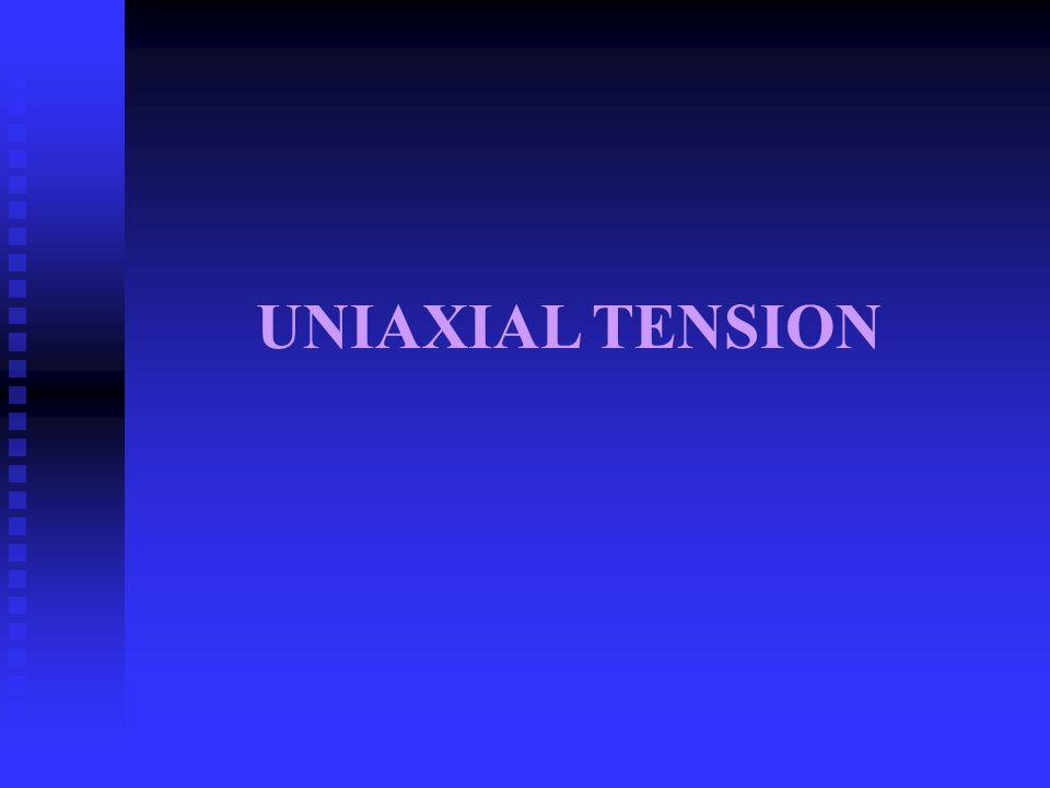 UNIAXIAL TENSION