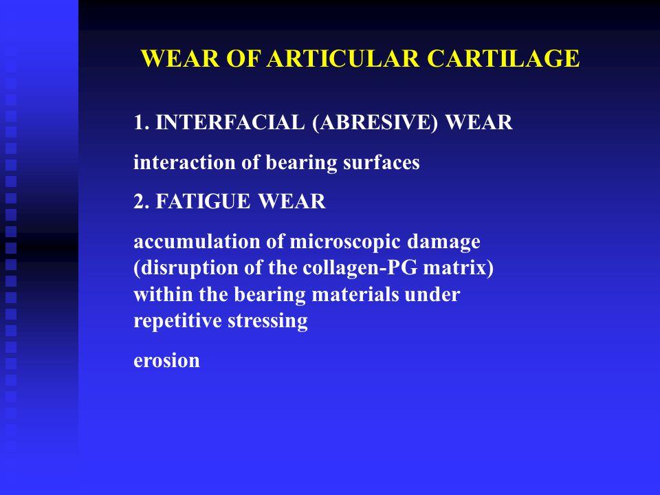 WEAR OF ARTICULAR CARTILAGE