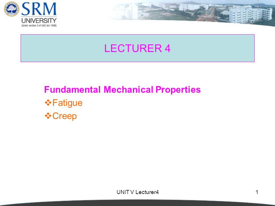 Fundamental Mechanical Properties Fatigue Creep