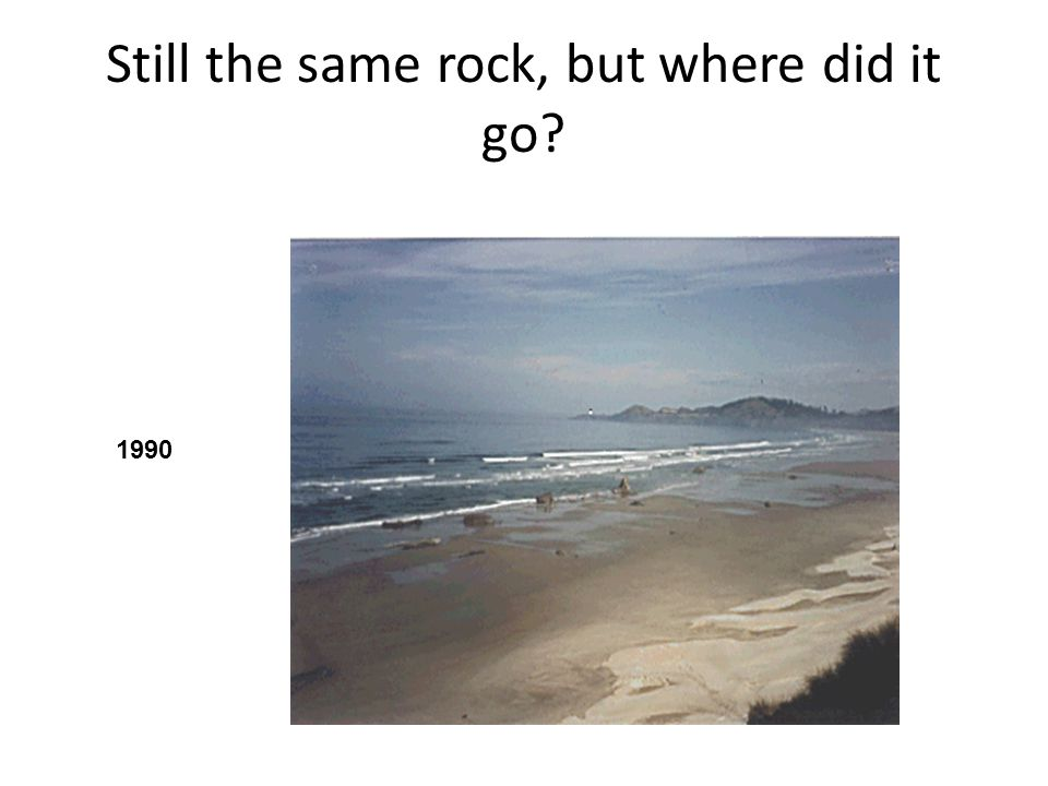 Still the same rock, but where did it go