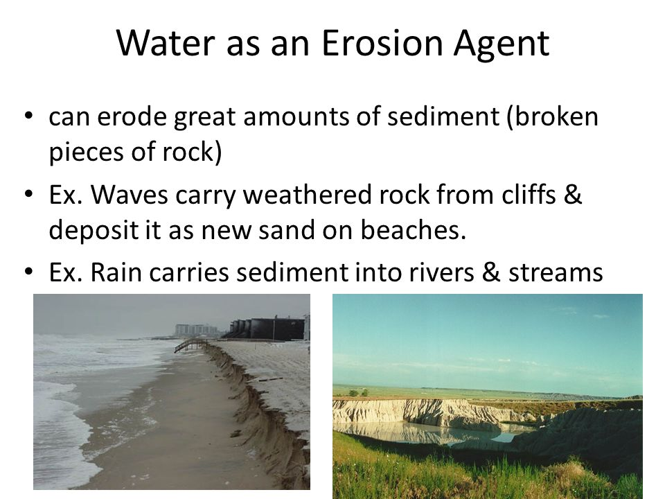 Water as an Erosion Agent