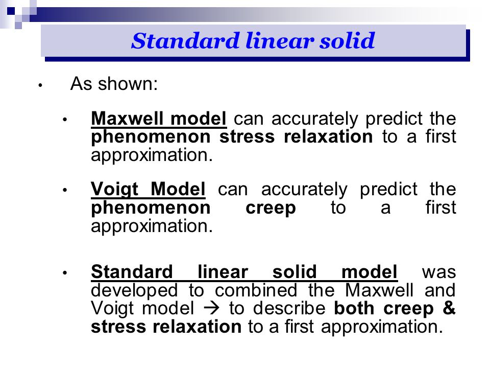 Standard linear solid As shown: