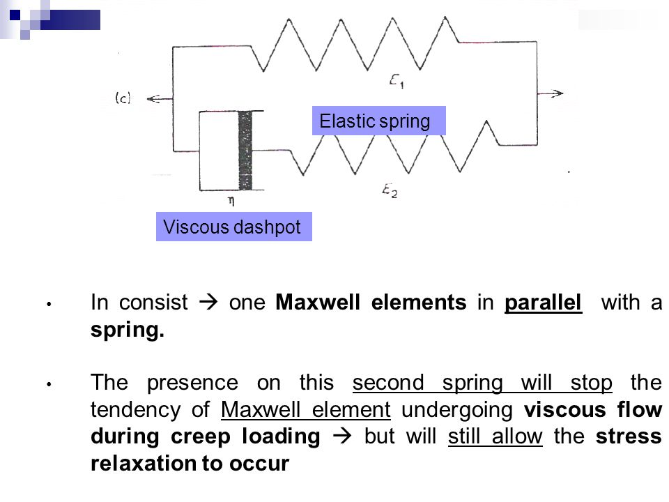 In consist  one Maxwell elements in parallel with a spring.