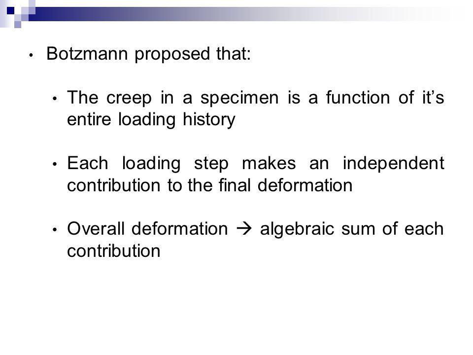 Botzmann proposed that: