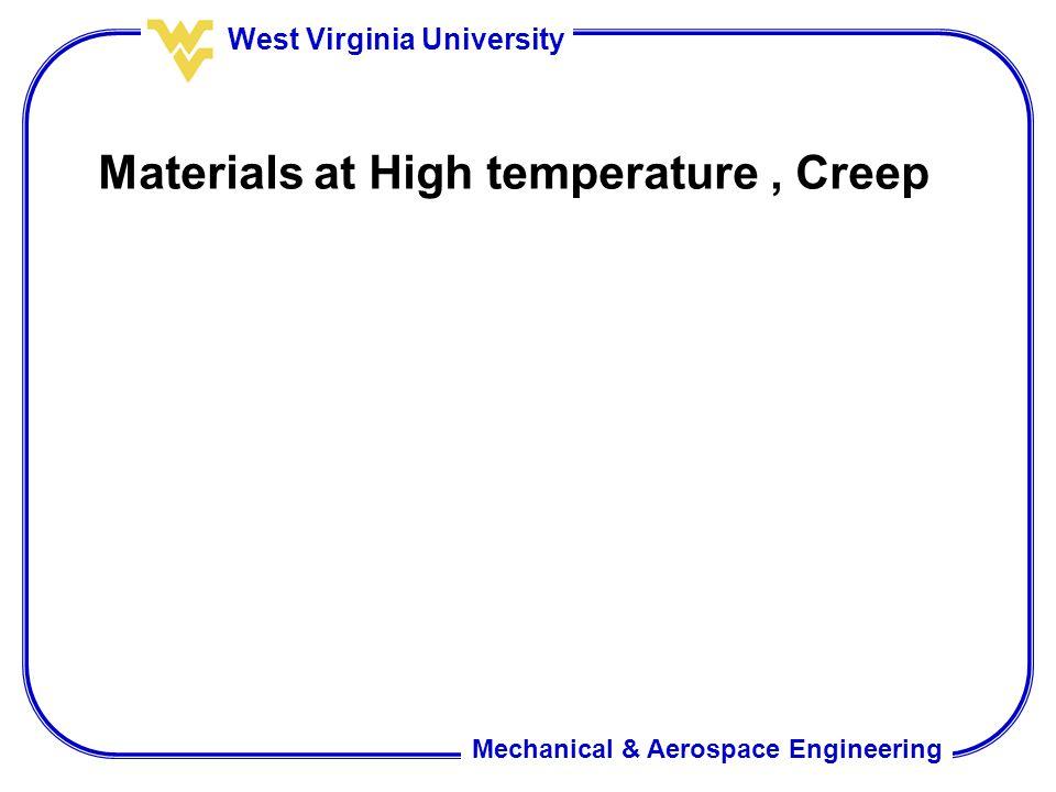 Materials at High temperature , Creep