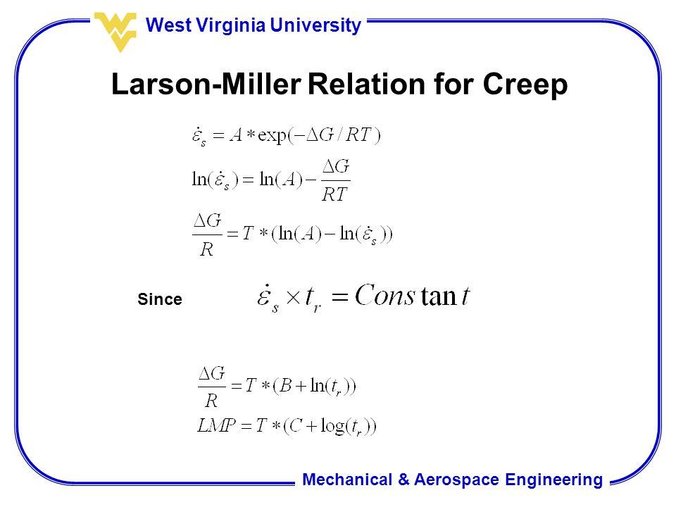 Larson-Miller Relation for Creep