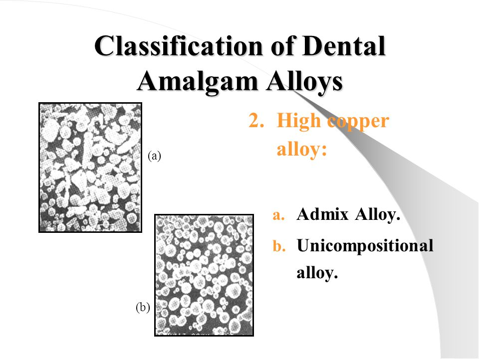 Classification of Dental Amalgam Alloys