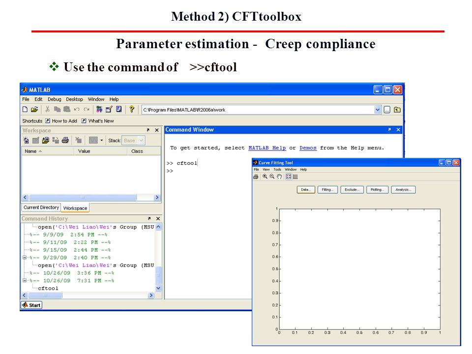 Parameter estimation - Creep compliance