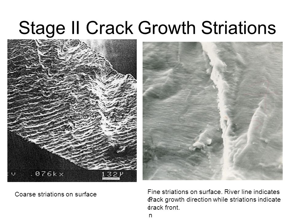 Stage II Crack Growth Striations