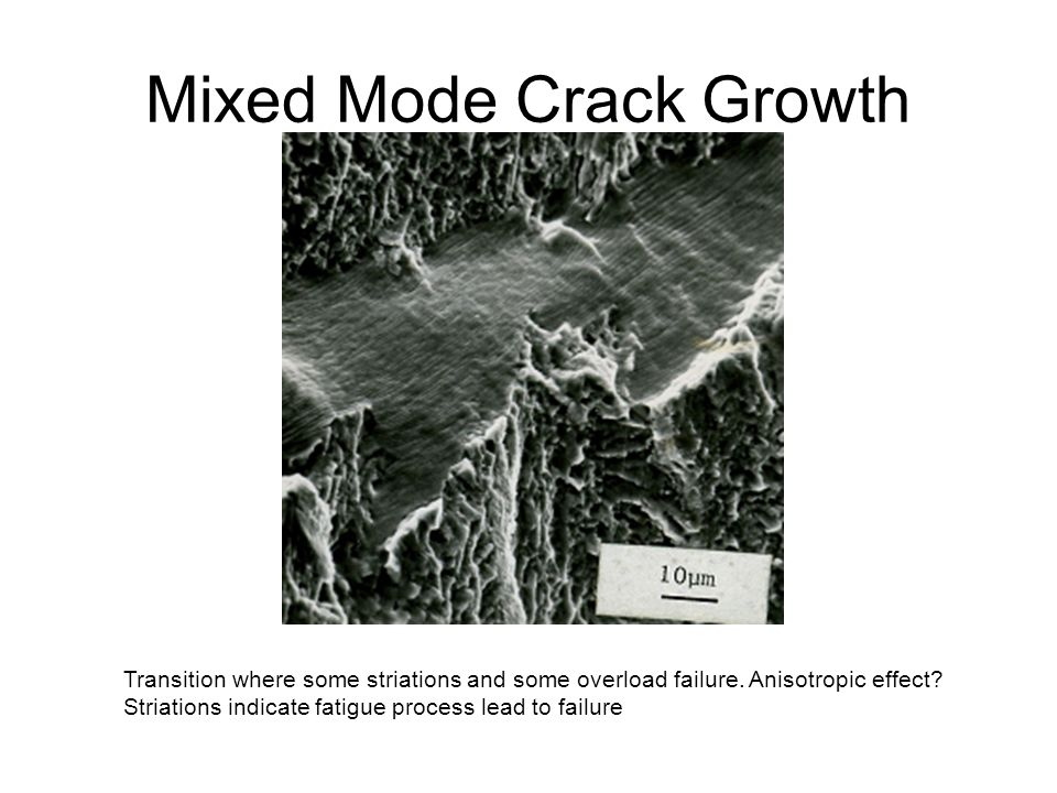 Mixed Mode Crack Growth
