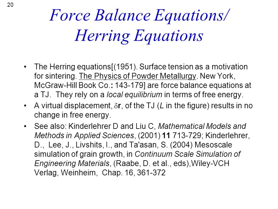 Force Balance Equations/ Herring Equations